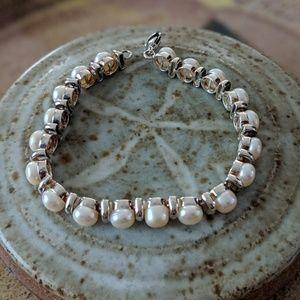 Jewelry - Vintage Pearl Sterling Bracelet
